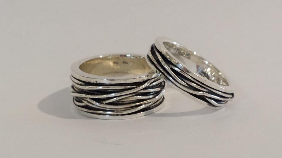 zilver relatie ringen