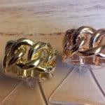 ringen rose en geelgoud