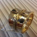 geelgouden diabolo ring