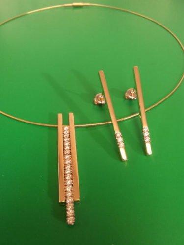 gouden hanger oorstekers