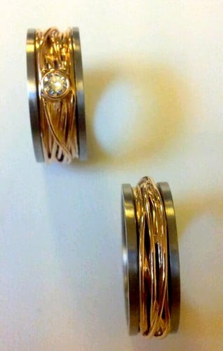 trouwringen goud diamant