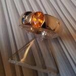 18krt geelgouden ring met topaze