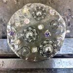 zilveren hanger zeeuwse knopen gecombineerd met amethist bergkristal citrien rozekwarts