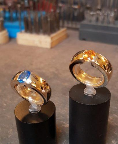 gouden ringn met topaas