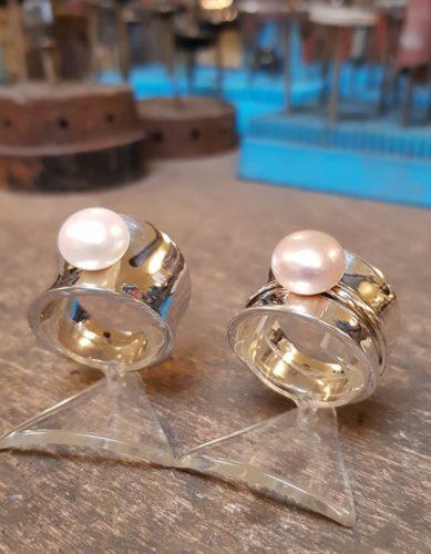 diabolo ringen witte parel en roze parel amfora sluis