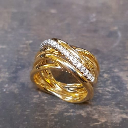 GOUDEN RING LABGROWN DIAMONDS