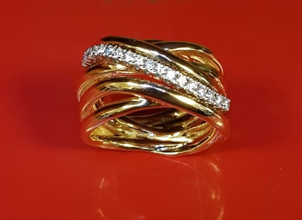 LABCREATED DIAMONDS GOLD 18K GOLDSMITH AMFORA SLUIS
