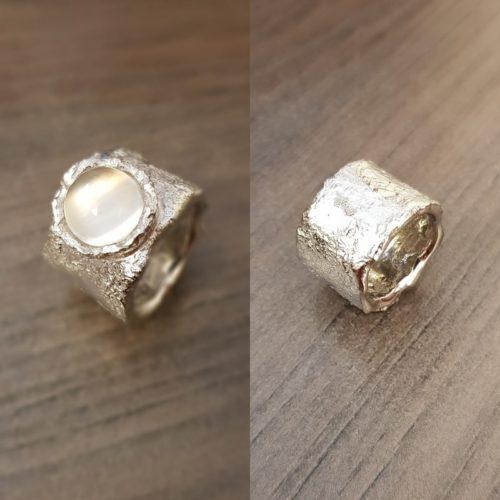 zilveren ringen maansteen