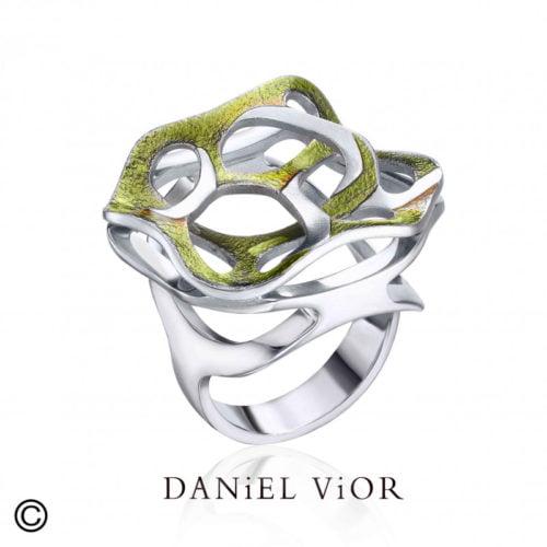 daniel vior teixit-green enamel-ag925 amfora edelsmid sluis