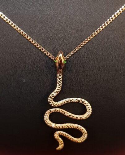 gouden slang hanger